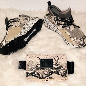 Steve Madden Sneakers and Fanny Pack